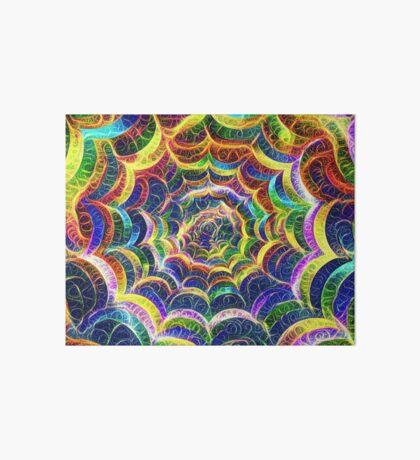 Spider web #DeepDream B Art Board Print