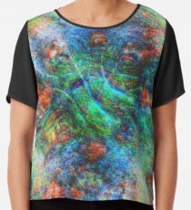 Mermaid #DeepDream Chiffon Top