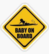 Surfing Baby on Board (long board)  Sticker