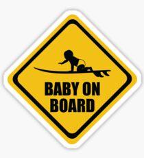 Surfing Baby on Board Sticker