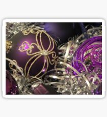 Study on purple Christmas baubles Sticker
