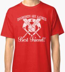 Softball Diamonds are a Girl's Best Friend Classic T-Shirt