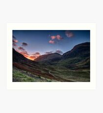 Dawn Light in Glencoe Art Print