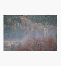 Glendalough Bell Tower Photographic Print