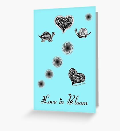 Cheeky Turtle Meets Shy Snail ~ ♥ Greeting Card