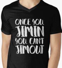 Camiseta para hombre de cuello en v BTS JIMIN - UNA VEZ QUE USTED JIMIN NO PUEDE JIMOUT