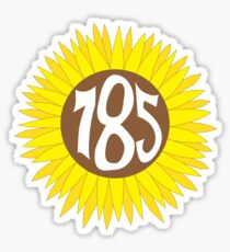 Hand Drawn Kansas Sunflower 785 Area Code Sticker