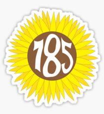 Pegatina Código de área de Kansas Sunflower 785 dibujado a mano