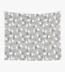 White rabbits Wall Tapestry