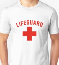 Lifeguard White Gray Black Swimming Pool Unisex T-Shirt
