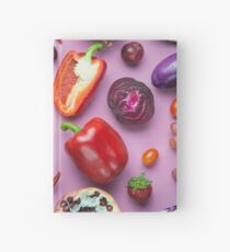 Red food on pink Hardcover Journal