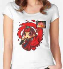 Samyang spicy noodle Women's Fitted Scoop T-Shirt