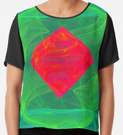 Antiquarian Pulsar infrared #fractal art Chiffon Top