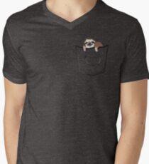 Sloth in a pocket Men's V-Neck T-Shirt