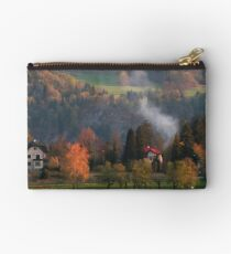 A pretty scene at Lake Bled, Slovenia Studio Pouch