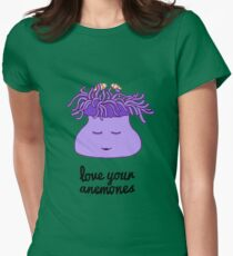 Love Your Anemones Womens Fitted T-Shirt