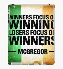 McGregor - Winners focus on winners iPad Case/Skin