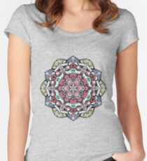 Flowers mandala #38 Women's Fitted Scoop T-Shirt