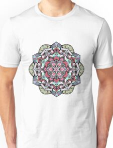 Flowers mandala #38 Unisex T-Shirt
