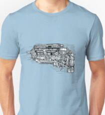 Supermarine Spitfire (Merlin) V12 Engine. Unisex T-Shirt