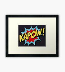 Kapow! Comic Book Framed Print