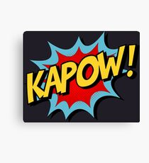 Kapow! Comic Book Canvas Print