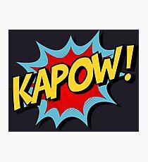 Kapow! Comic Book Photographic Print