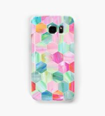 Pretty Pastel Hexagon Pattern in Oil Paint Samsung Galaxy Case/Skin