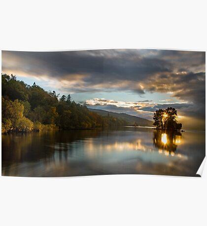 Last light Loch Tay, Perthshire Scotland Poster