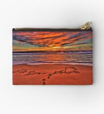 Footprints In The Sand - Newport Beach - The HDR Series Studio Pouch