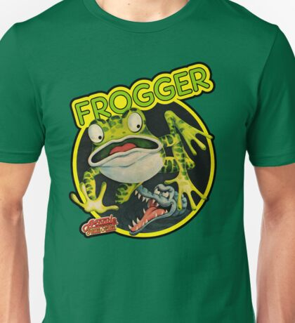 Frogger 1980s Video Game Art T-shirt