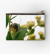 Metallic green bee Studio Pouch