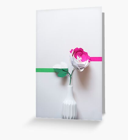 Draw the line Greeting Card