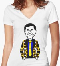 CRAIG SAGER Women's Fitted V-Neck T-Shirt