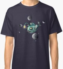 Angler Fish with Planets Classic T-Shirt