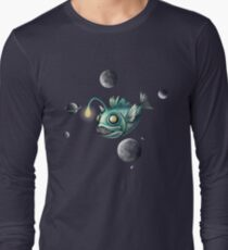 Angler Fish with Planets Long Sleeve T-Shirt