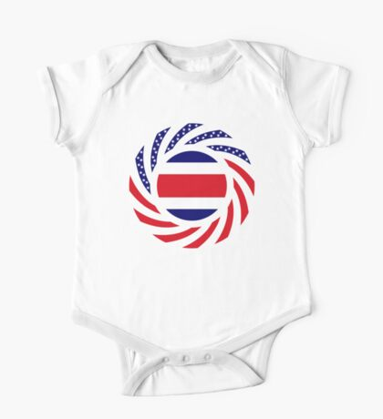 Costa Rican American Multinational Patriot Flag Series Kids Clothes