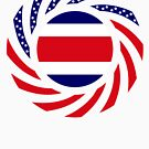 Costa Rican American Multinational Patriot Flag Series by Carbon-Fibre Media