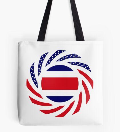 Costa Rican American Multinational Patriot Flag Series Tote Bag
