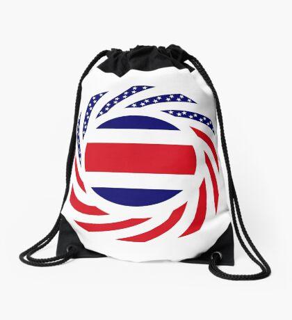 Costa Rican American Multinational Patriot Flag Series Drawstring Bag