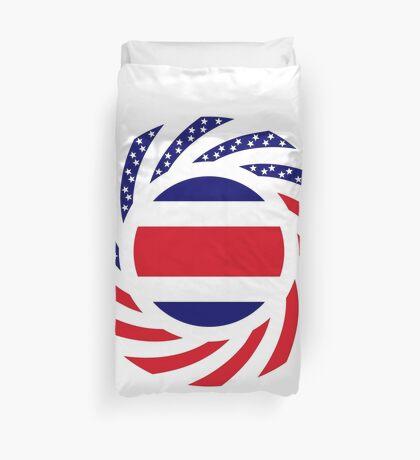 Costa Rican American Multinational Patriot Flag Series Duvet Cover