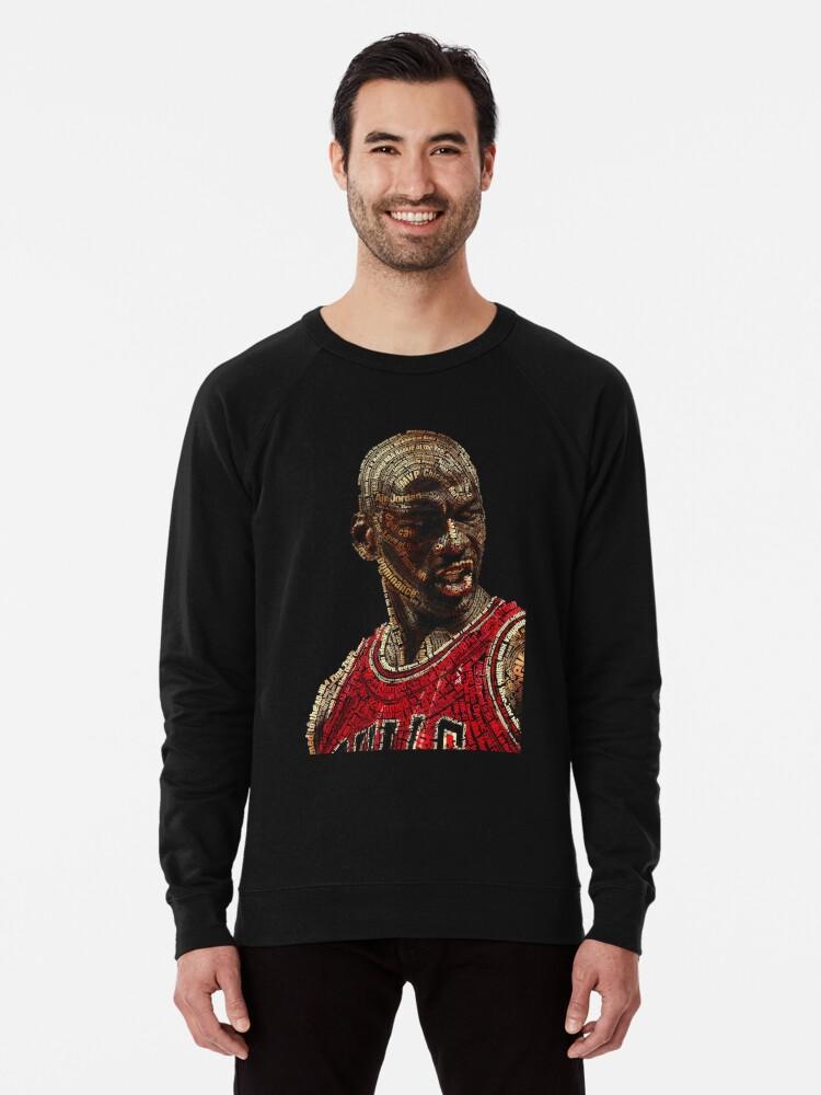 'The GOAT Michael Jordan' Lightweight Sweatshirt by The Real Jonny D