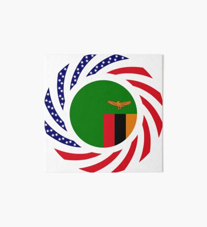 Zambian American Multinational Patriot Flag Series Art Board Print