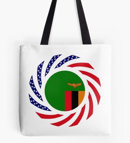 Zambian American Multinational Patriot Flag Series Tote Bag