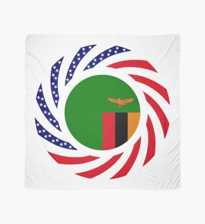 Zambian American Multinational Patriot Flag Series Scarf