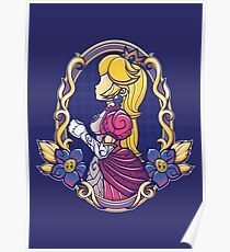Stained-Glass Peach Poster