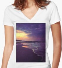Walking on the dream Women's Fitted V-Neck T-Shirt