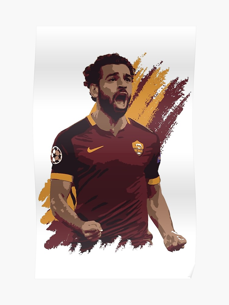 superior quality c4313 dbae2 Mohamed Salah - A.S. Roma | Poster