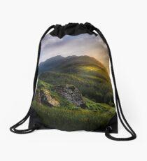 Mountain Sunset Drawstring Bag