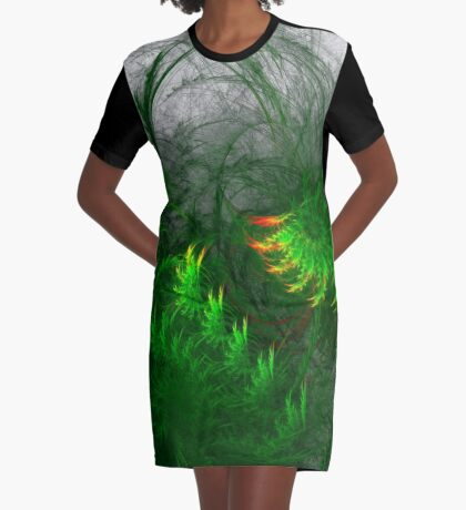 Jungle #fractal art Graphic T-Shirt Dress